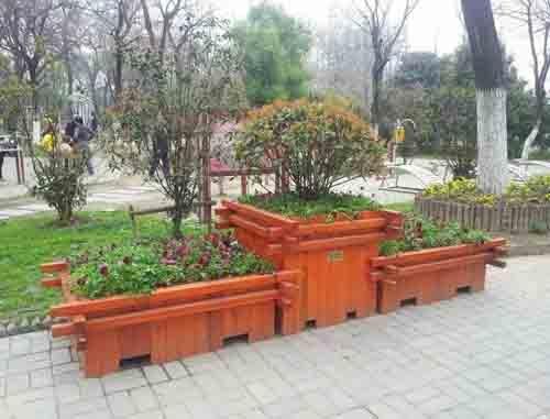 防腐木组合花箱