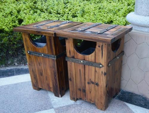 大连防腐木垃圾桶