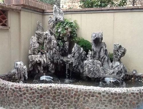 大连庭院假山流水