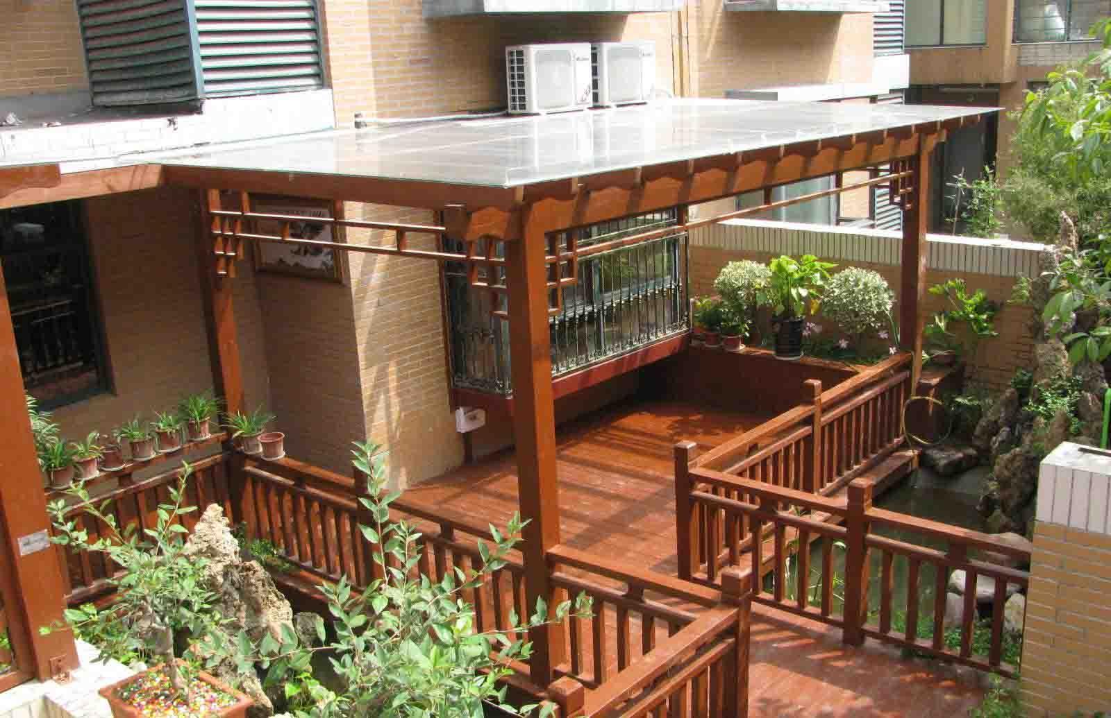 庭院防腐木花架、藤架