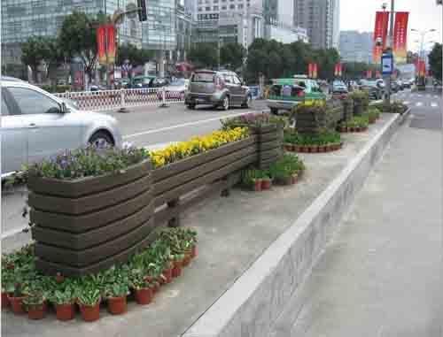 大连道路景观花箱