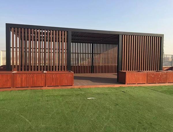 塑木景观廊架