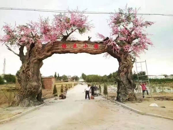 雕塑景观大门